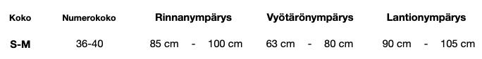 Koucla Size Chart One Size
